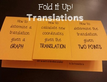 Translations Foldable Notes
