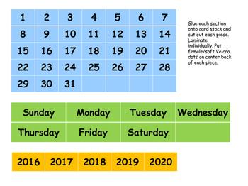 Fold n' Go Calendar Kit