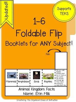 UPDATED!! 12 Different Foldable-Flip Booklets