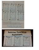 Foldable 2-Step Equation Practice