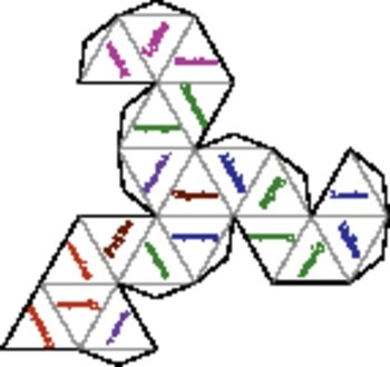 Foldable 20-Side Dice of Amino Acids