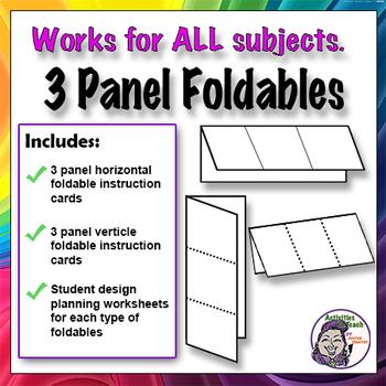 Foldable - 3 Panel Horizontal Version