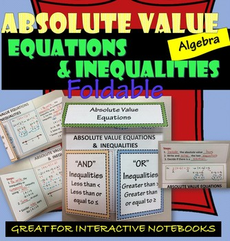 Foldable Absolute Value Equations and Inequalities