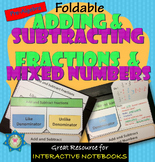 Foldable Add and Subtract Fractions and Mixed Numbers