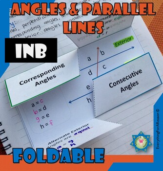 Angles and Parallel lines Relationships Foldable