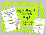 Bundle Applications of Percents Day 1: Finding sales tax a