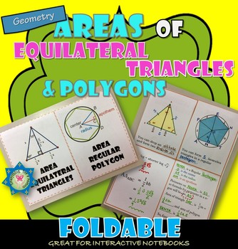 Area of Equilateral Triangle and Regular Polygons Foldable