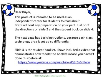 Foldable Book ~ Brazil