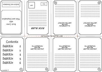 Foldable Book Templates