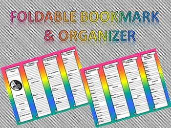 Foldable Bookmark & Organizer