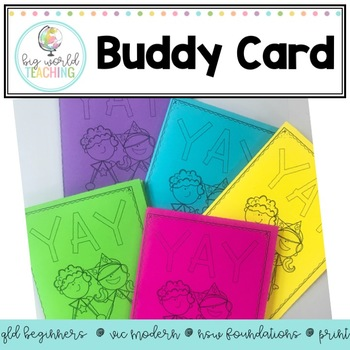 Foldable Buddy Card