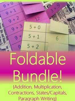 Foldable Bundle {For Interactive Notebooks & Alternative Flashcards}