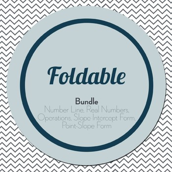 Foldable Bundle: Number Line, Real Numbers, Operations, Sl