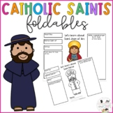 Foldable Catholic Saints Pages - No Prep - Lent