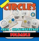 Foldable Circles - Area and Circumference