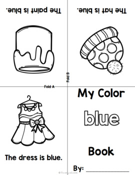 Foldable Color Word Books