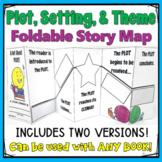 Foldable Craftivity Template focusing on Plot, Setting, Theme