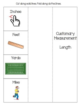 Foldable-- Customary Measurement: Length