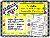 Foldable Domain and Range of Quadratic Functions from Mult