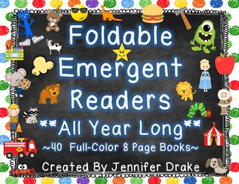 Foldable Emergent Readers ~Set of 40~  *Themes For All Yea