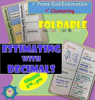 Foldable Estimating with Decimals - Front-End Estimation a