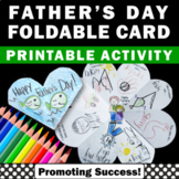 Foldable Fathers Day Card for Kids to Make Fathers Day Craft Project