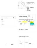 Foldable - Finding Slope 3 ways
