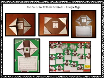 Foldable Football Freebie! A Writing Center for the Primary Classroom!