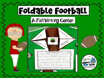 Foldable Football Freebie! A Writing Center for the Primar