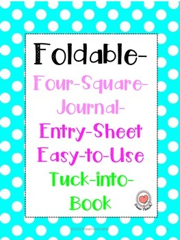 Foldable- Four-Square-Journal- Entry-Sheet Easy-to-Use Tuck-into-Book