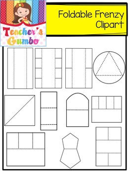 Foldable Frenzy Clipart Templates