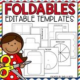 Foldable Fun!  20 EDITABLE Templates: Mini-book, Flaps,  A