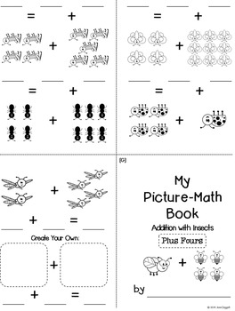 Foldable Fun: Picture-Math Books  {SUPER PACK} Addition with Insects