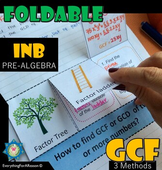 Foldable GCF - GCD, 3 Methods to find Greatest Common Factor