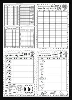 Foldable Graph Book - Maths Fun {BrE Version}