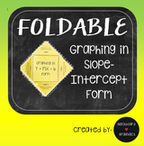 Foldable Graphing in Slope Intercept Form TEK 8.5B