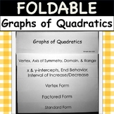 Foldable: Graphs of Quadratics (Graph Vertex, Factored, & Standard Form)