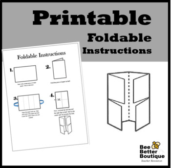 picture relating to Printable Foldables known as Foldable Recommendations--Printable as a result of Bee Greater Boutique TpT