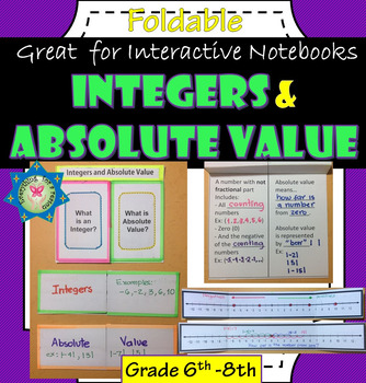 Foldable Integers and Absolute Value