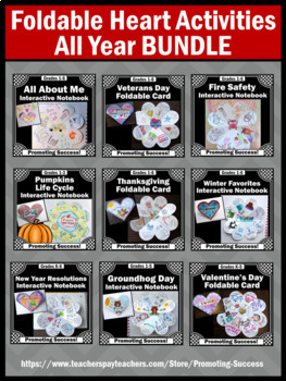 Holiday Crafts BUNDLE Literacy and Science Interactive Notebooks