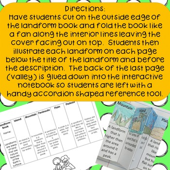Foldable Landforms Book for Interactive Science Notebooks