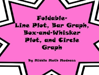 Foldable- Line Plot, Bar Graph, Box-and-Whisker Plot, and Circle Graph
