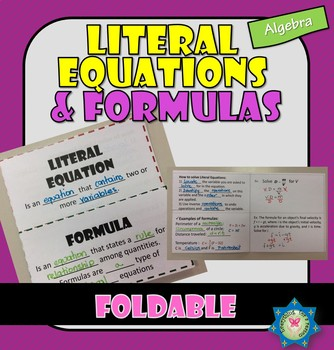 Foldable Literal Equations and Formulas