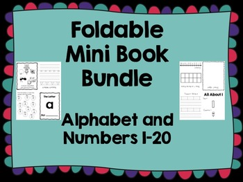 Fold and Make Mini Book Bundle- Alphabet and Numbers 1-20