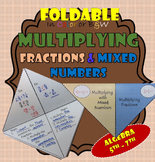 Foldable Multiplying Fractions and Mixed Numbers