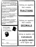 Foldable Note-Taking Guide Solving Equations (Includes Acc