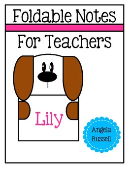 Foldable Notes For Teachers