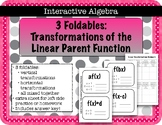 Foldable Notes Transformations of Linear Functions in Function Notation