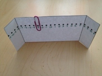 Foldable: Number Line for Interactive Math Journal