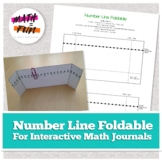 Foldable: Pop-up Number Line for Interactive Math Journal/Notebook